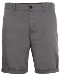 Topman Grey Slim Chino Shorts