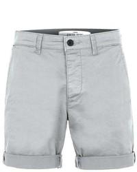 Topman Grey Stretch Skinny Chino Shorts