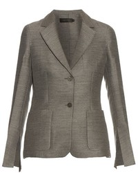 Hamlin single breasted wool and silk blend blazer medium 726706