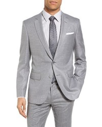 BOSS Hutsons Trim Fit Wool Silk Blazer