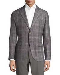 Eleventy Tailored Fit Handmade Linen Wool Silk Sportcoat
