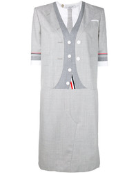 Thom Browne Suit Motif T Shirt Dress