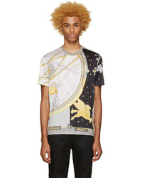Versace Grey Silk Space T Shirt