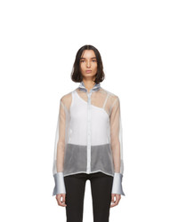Gauge81 Grey Organza Rio Tuxedo Shirt