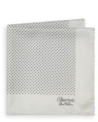 Charvet Small Pattern Silk Pocket Square