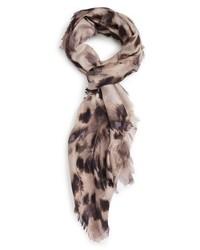 Feathered cat cashmere silk scarf medium 1162102