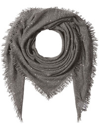 Sequinned scarf with wool silk and cashmere medium 824522