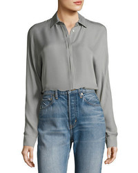 Vince Button Down Long Sleeve Blouse