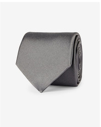Express Solid Narrow Silk Tie