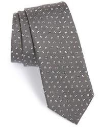 Saint Laurent Yves Split Dot Silk Tie
