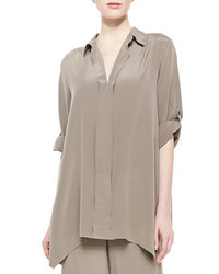 Go Silk Dolman Sleeve Silk Tunic Petite