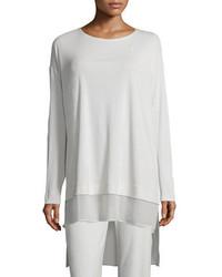 Eileen Fisher Long Sleeve Layered Silk Tunic