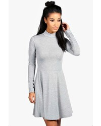 Boohoo Alissia Turtle Neck Skater Dress