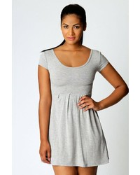 Boohoo Claudia Jersey Cap Sleeve Skater Dress