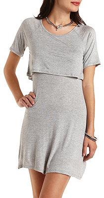 345b82280e ... Charlotte Russe Layered T Shirt Skater Dress ...