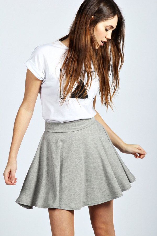 the gallery for gt coral skater skirt outfit