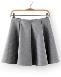 ChicNova Pure Color Skater Skirt