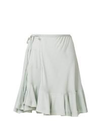 Chloé Peplum Hem Wrap Style Skirt