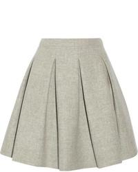 Miu Miu Pleated Wool Mini Skirt