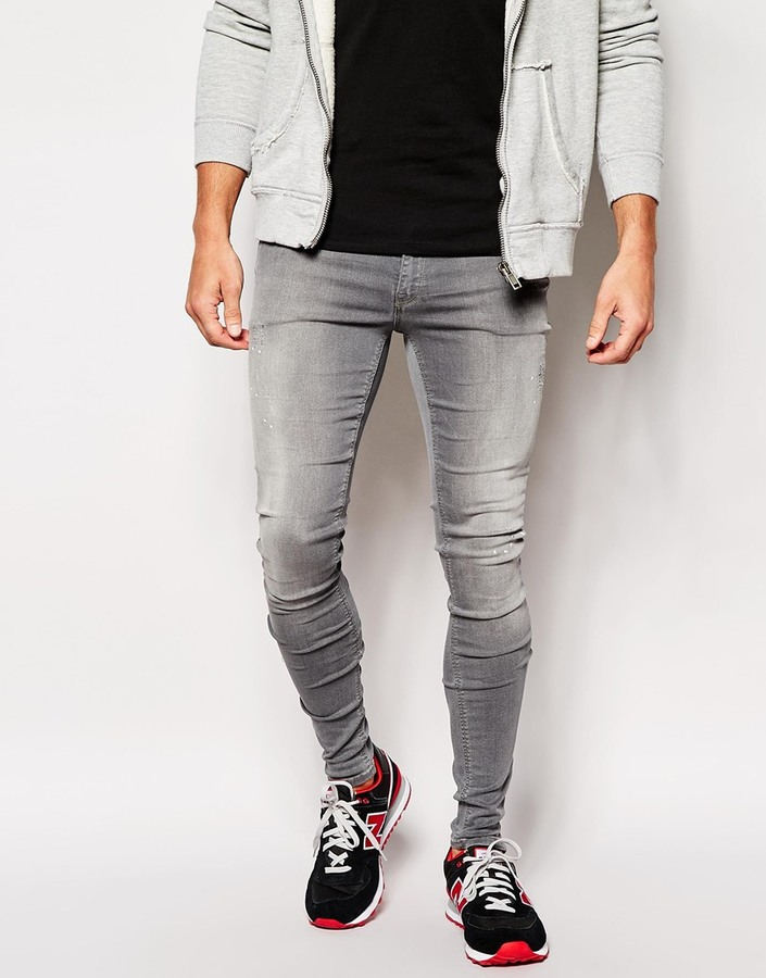 Asos Brand Extreme Super Skinny Jeans With Zipped Hems | Where to