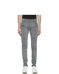 Balmain Black Monogram Slim Jeans