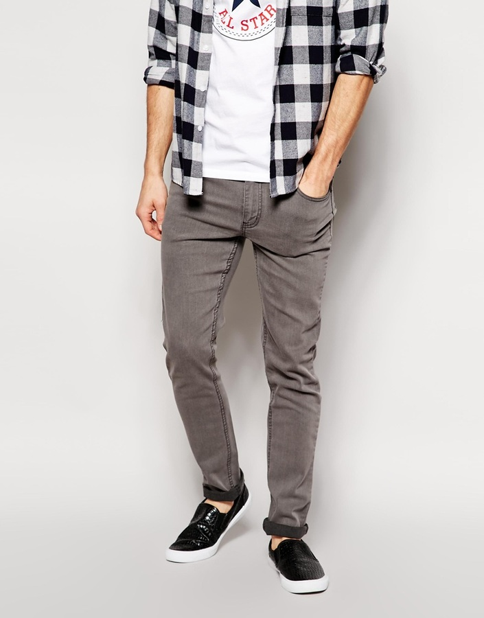 Cheap Monday Jeans Tight Skinny Fit In Mid Gray Wash | Where to ...