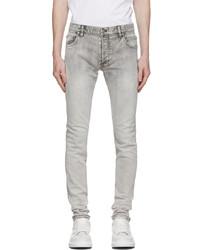 Balmain Grey Bleached Skinny Jeans
