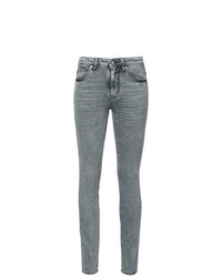 Saint Laurent Mid Rise Skinny Jeans