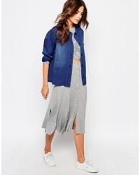 Vila Button Down Midi Skirt