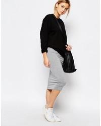 Boohoo Jersey Midi Skirt