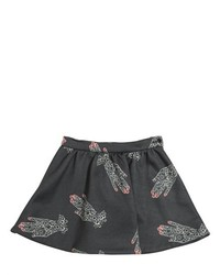 Printed Cotton Blend Round Skirt
