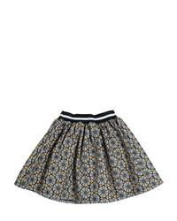 Stella Jean Printed Doubled Cotton Round Skirt
