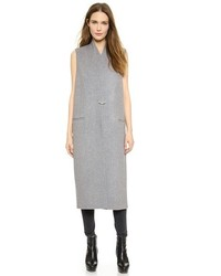 Grey Sleeveless Coat
