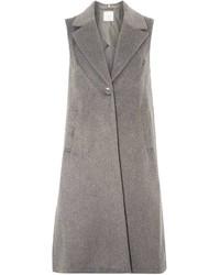 Petite Grey Sleeveless Coat