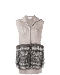 Fabiana Filippi Sleeveless Knit Coat