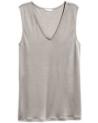Sleeveless lyocell top medium 3740932