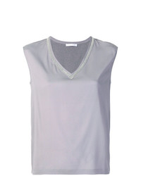 Fabiana Filippi V Neck Sleeveless Top