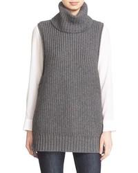 Lace up sleeveless turtleneck sweater medium 834633