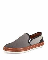 Donald J Pliner Gavino Dgrad Mesh Slip On Sneaker Gray