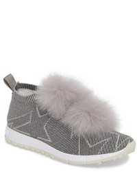Jimmy choo norway genuine fox fur trim slip on sneaker medium 4423184