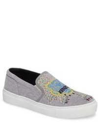 Kenzo K Skate Embroidered Slip On Sneaker