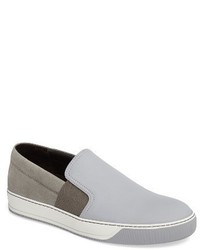 Lanvin Perforated Slip On Sneaker