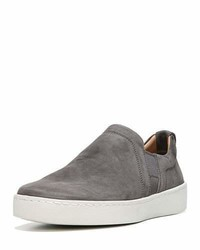 Vince Soren Washed Nubuck Slip On Sneaker Gray
