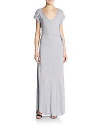 V neck slit maxi dress medium 344128