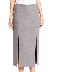 Wes Gordon Double Slit Pencil Skirt