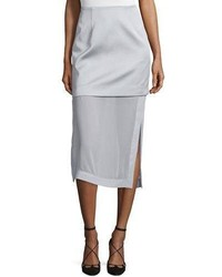 Northern lights layered midi skirt gray medium 3723941
