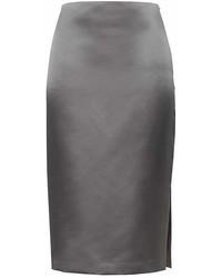 Banana Republic Satin Pencil Skirt With Side Slit
