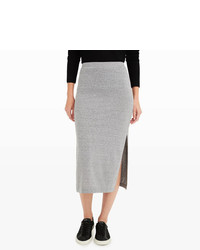 Club Monaco Solid Striped Pull On Skirt