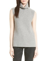 Vince Side Slit Cashmere Turtleneck