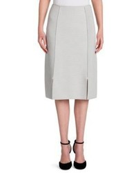 Giorgio Armani Ottoman Virgin Wool Double Slit Pencil Skirt